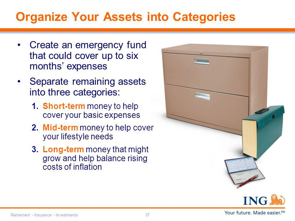 Organize Your Assets into Categories