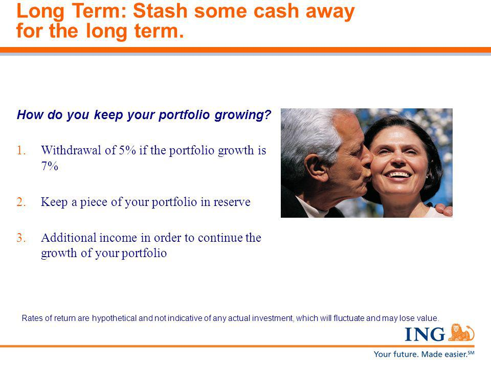 Long Term: Stash some cash away for the long term.