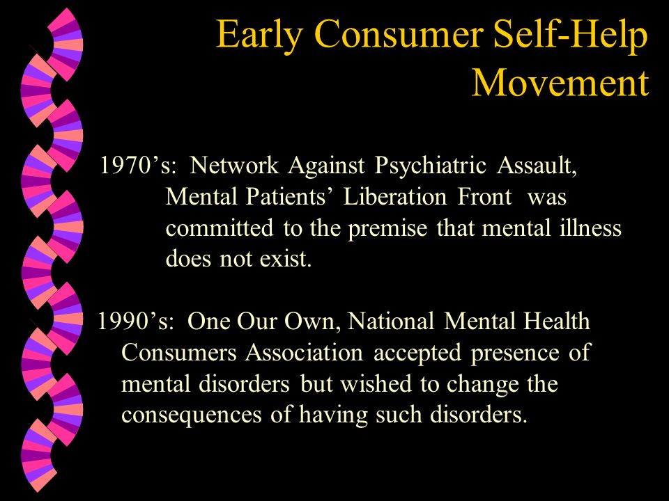 Early Consumer Self-Help Movement