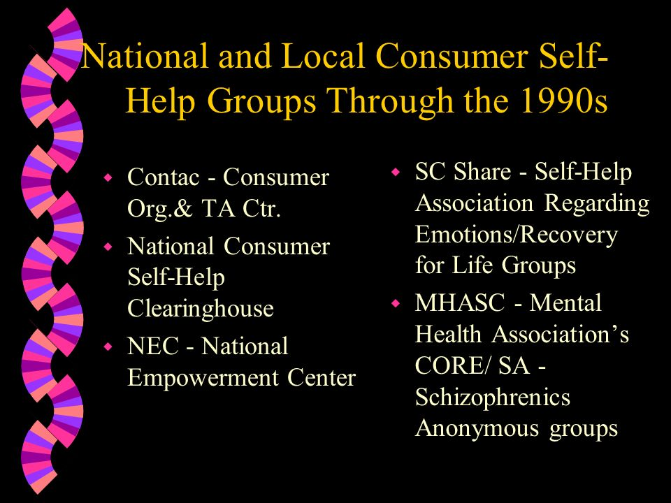 National and Local Consumer Self-Help Groups Through the 1990s