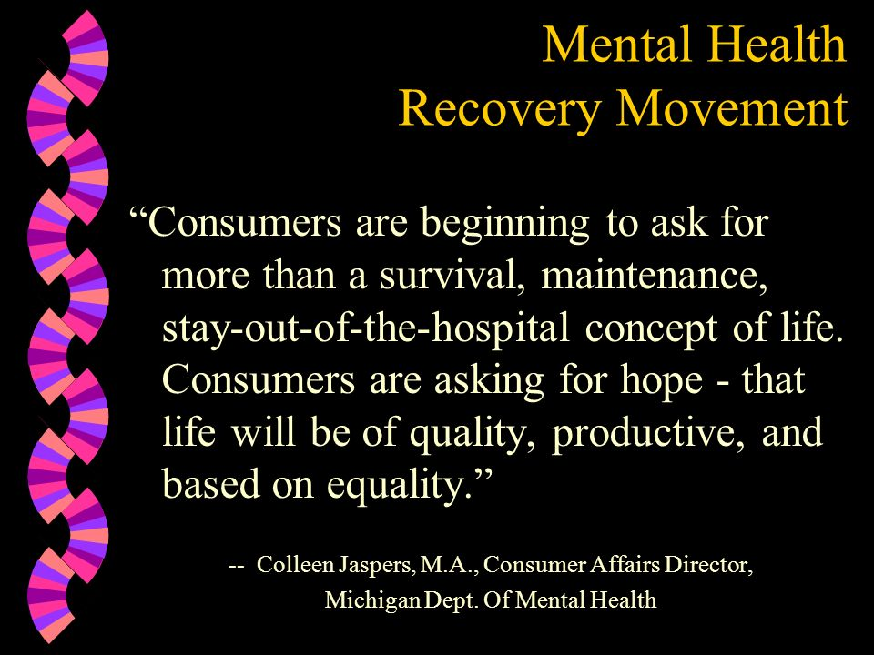 Mental Health Recovery Movement