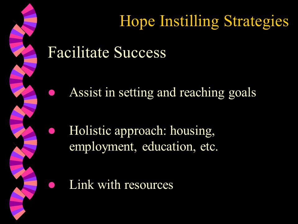 Hope Instilling Strategies