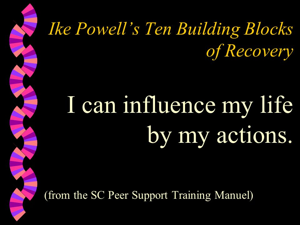 Ike Powell's Ten Building Blocks of Recovery
