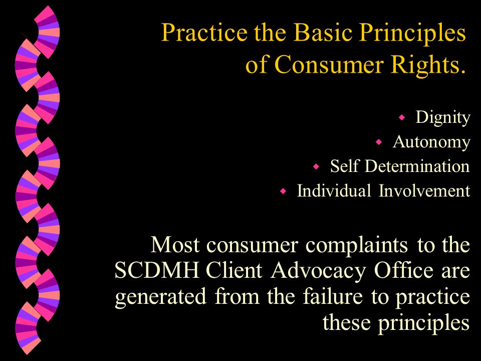 Practice the Basic Principles of Consumer Rights.
