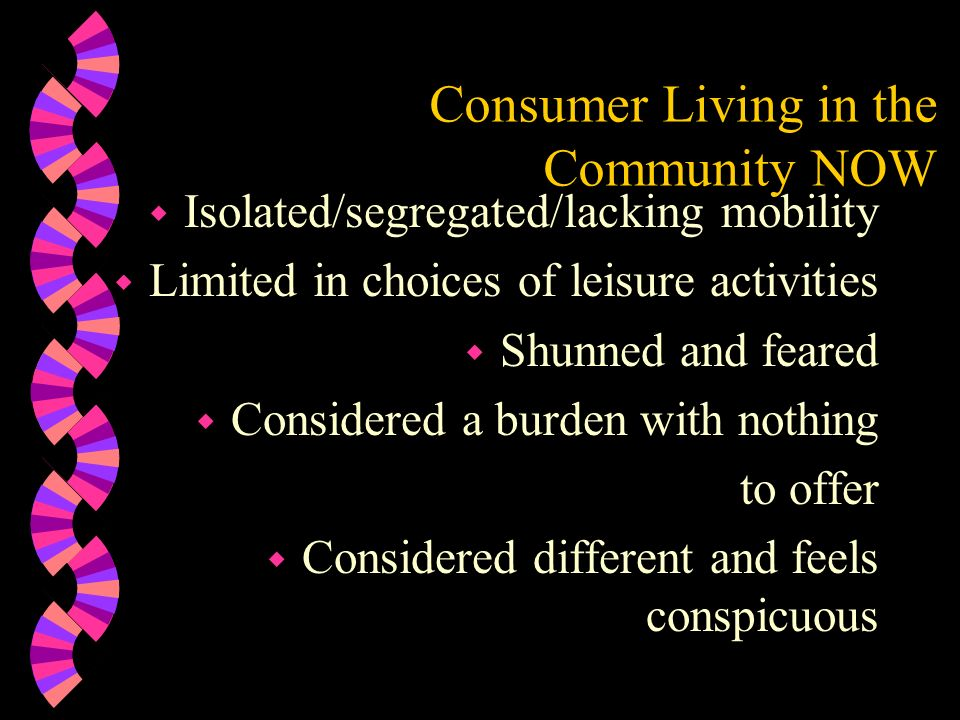 Consumer Living in the Community NOW