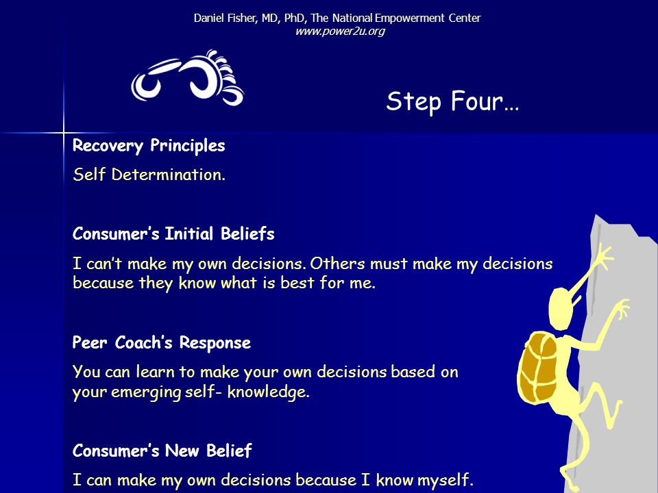 Step Four… Recovery Principles Self Determination.