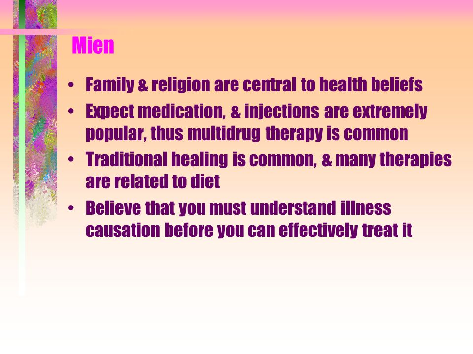 Mien Family & religion are central to health beliefs
