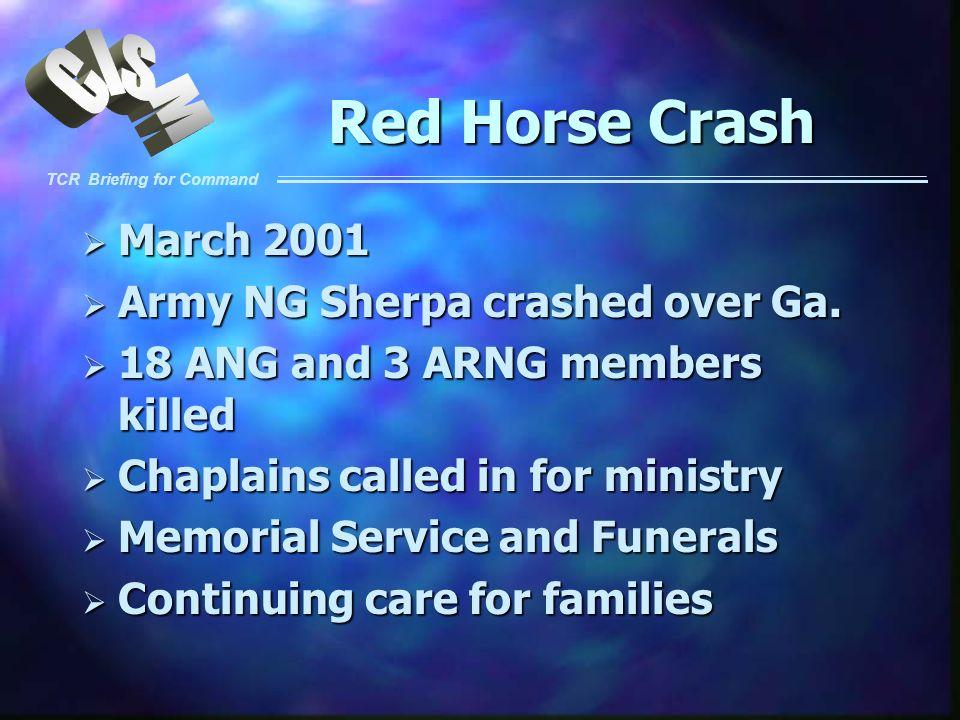 Red Horse Crash March 2001 Army NG Sherpa crashed over Ga.