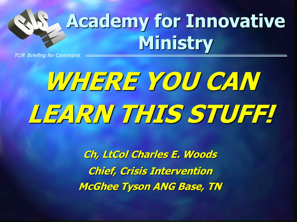 Academy for Innovative Ministry