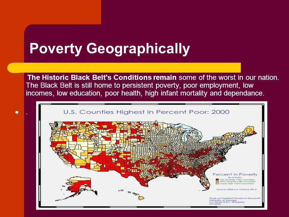 Poverty Geographically