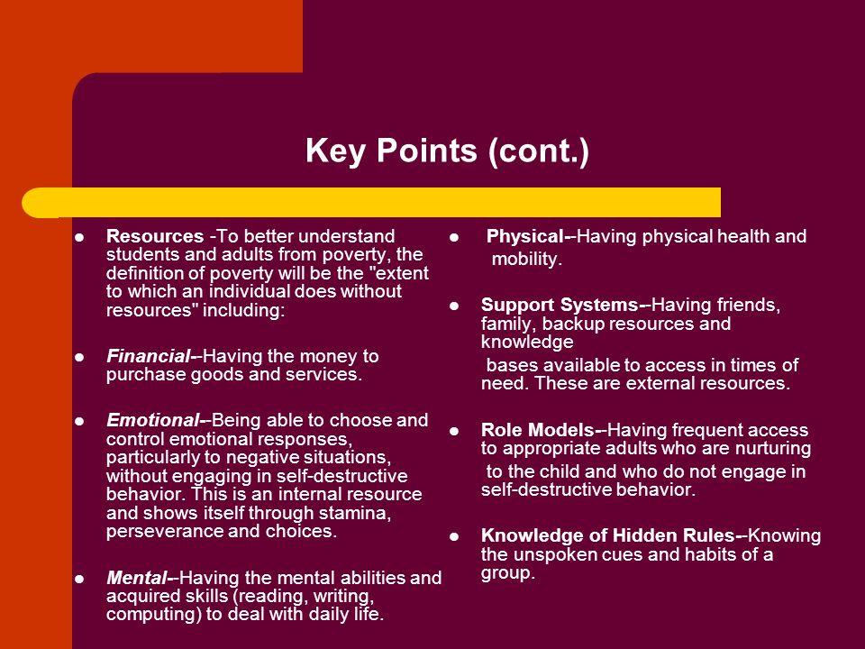 Key Points (cont.)