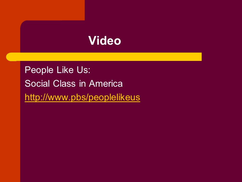 Video People Like Us: Social Class in America