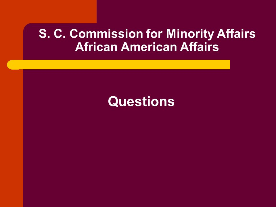 S. C. Commission for Minority Affairs African American Affairs