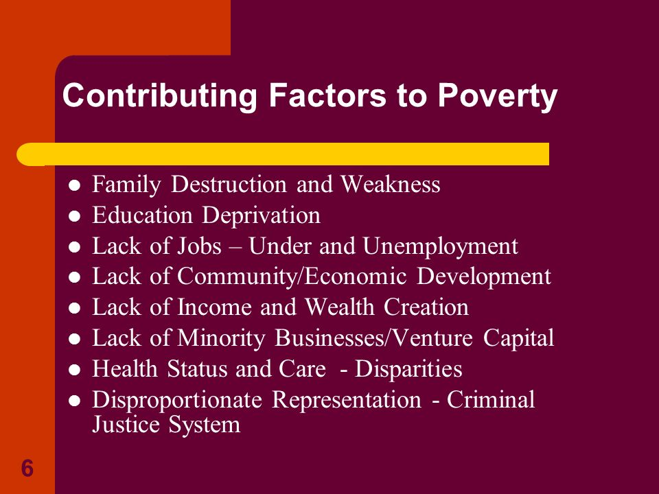 Contributing Factors to Poverty