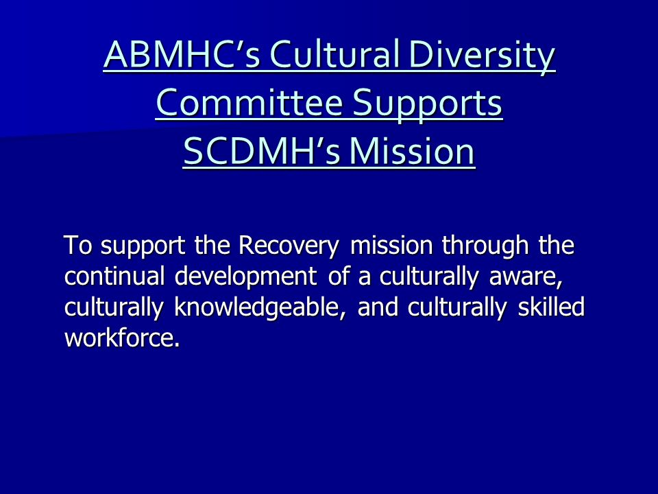 ABMHC's Cultural Diversity Committee Supports SCDMH's Mission