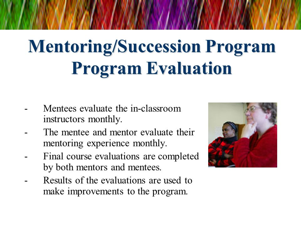 Mentoring/Succession Program Program Evaluation