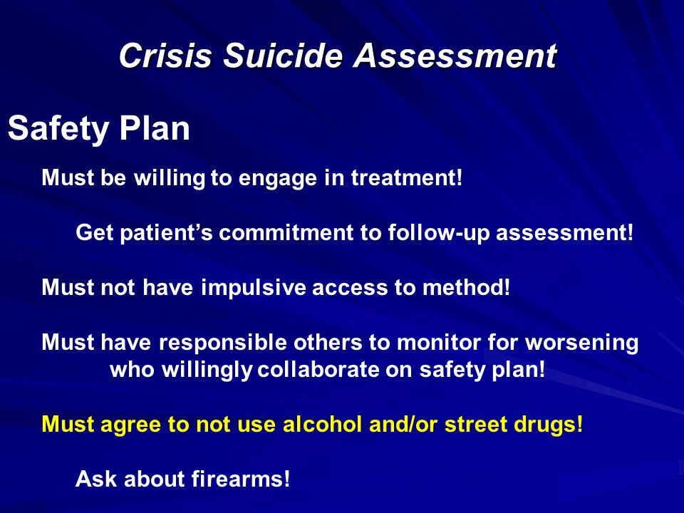 Crisis Suicide Assessment