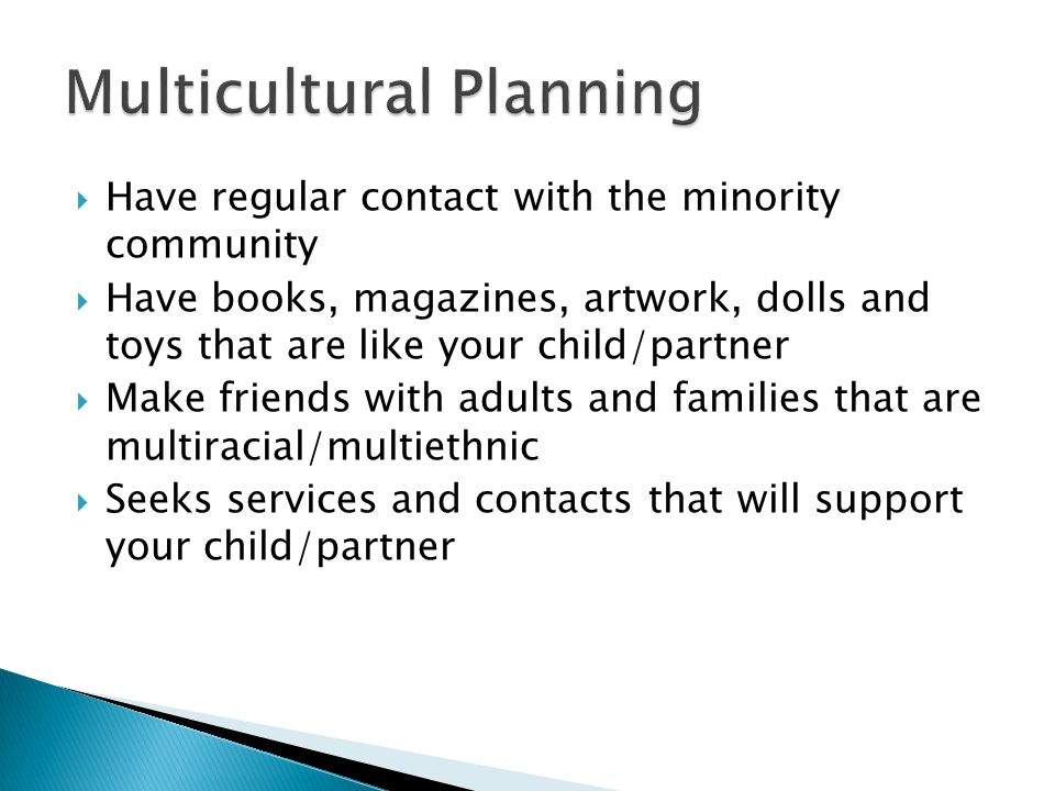 Multicultural Planning