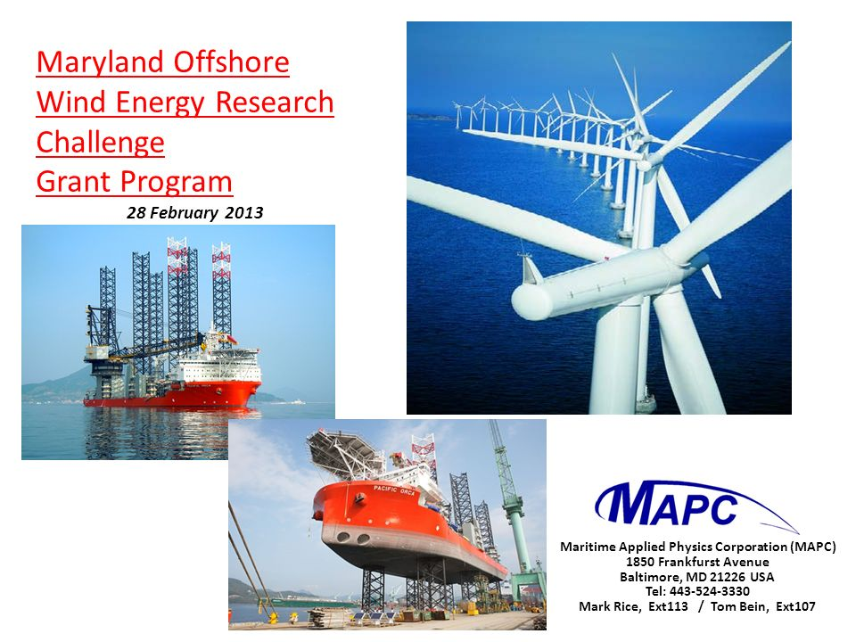 Maryland Offshore Wind Energy Research Challenge