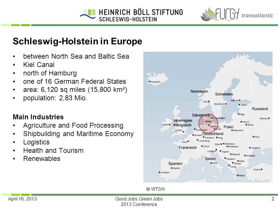 Schleswig-Holstein in Europe