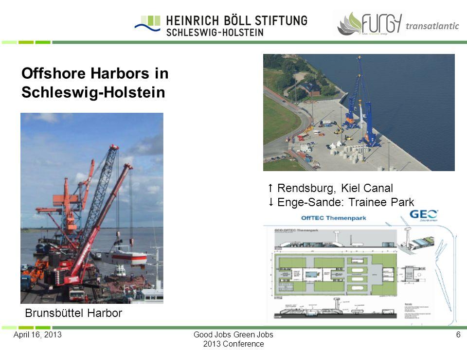 Offshore Harbors in Schleswig-Holstein  Rendsburg, Kiel Canal