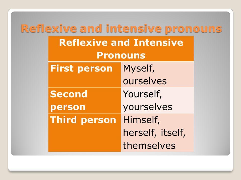 reflexive and intensive pronouns pdf
