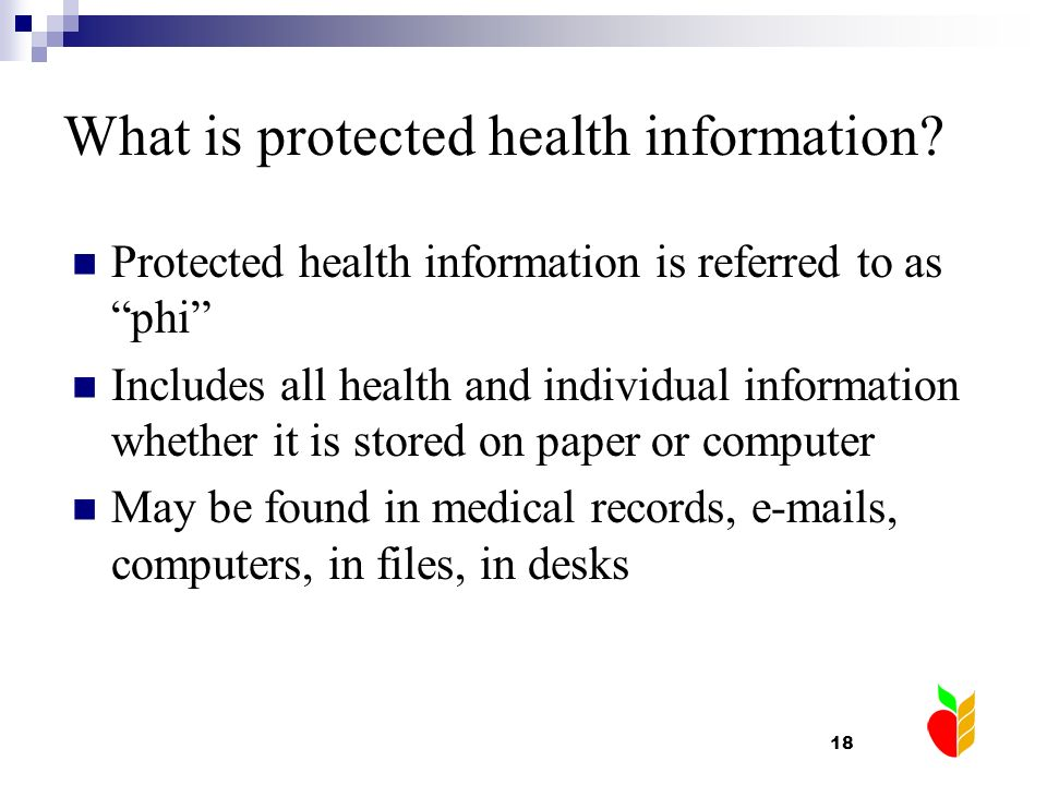 What is protected health information
