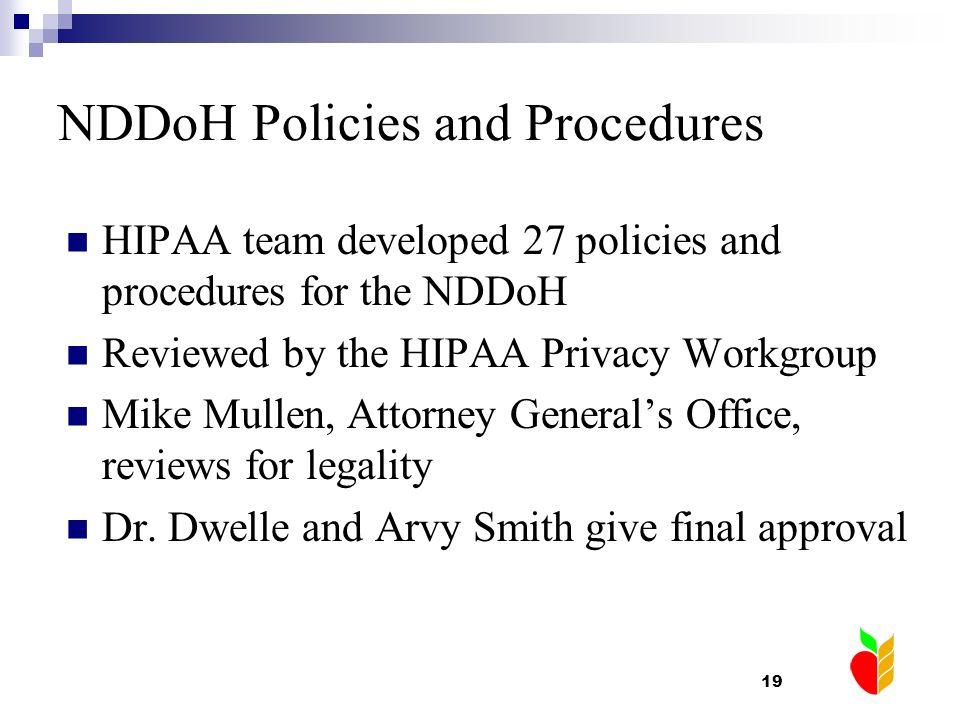 NDDoH Policies and Procedures