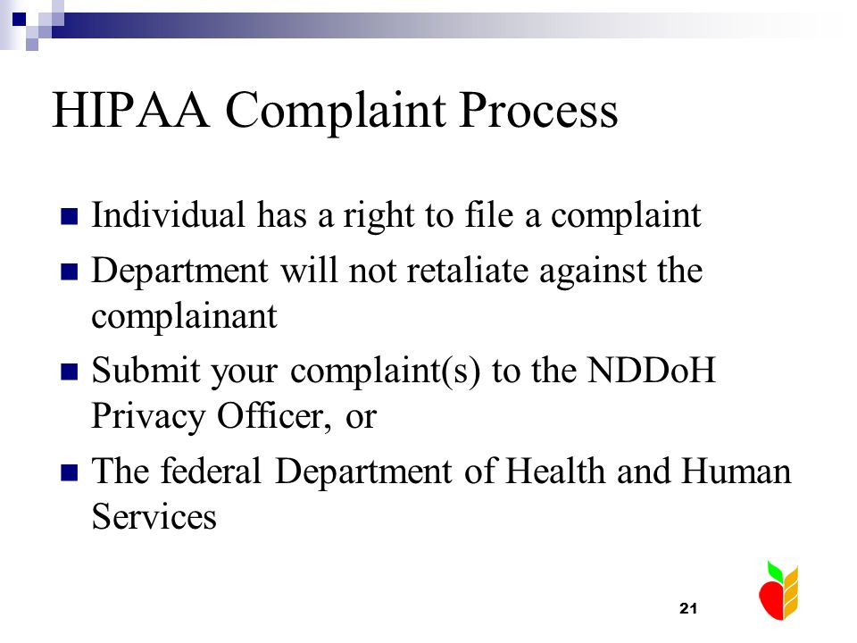 HIPAA Complaint Process
