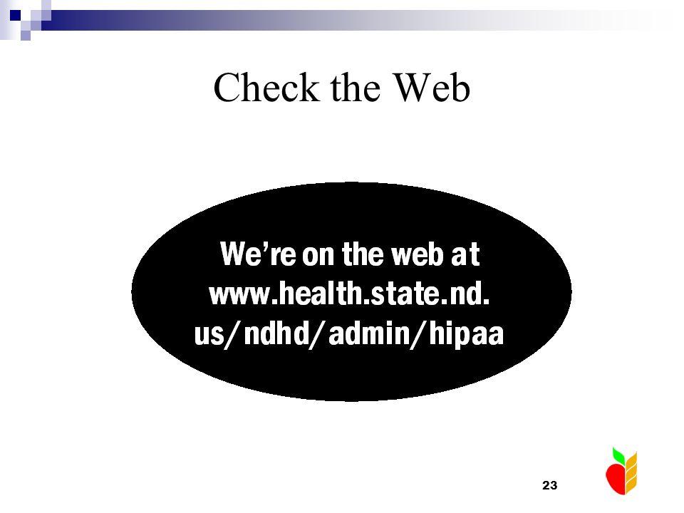 Check the Web
