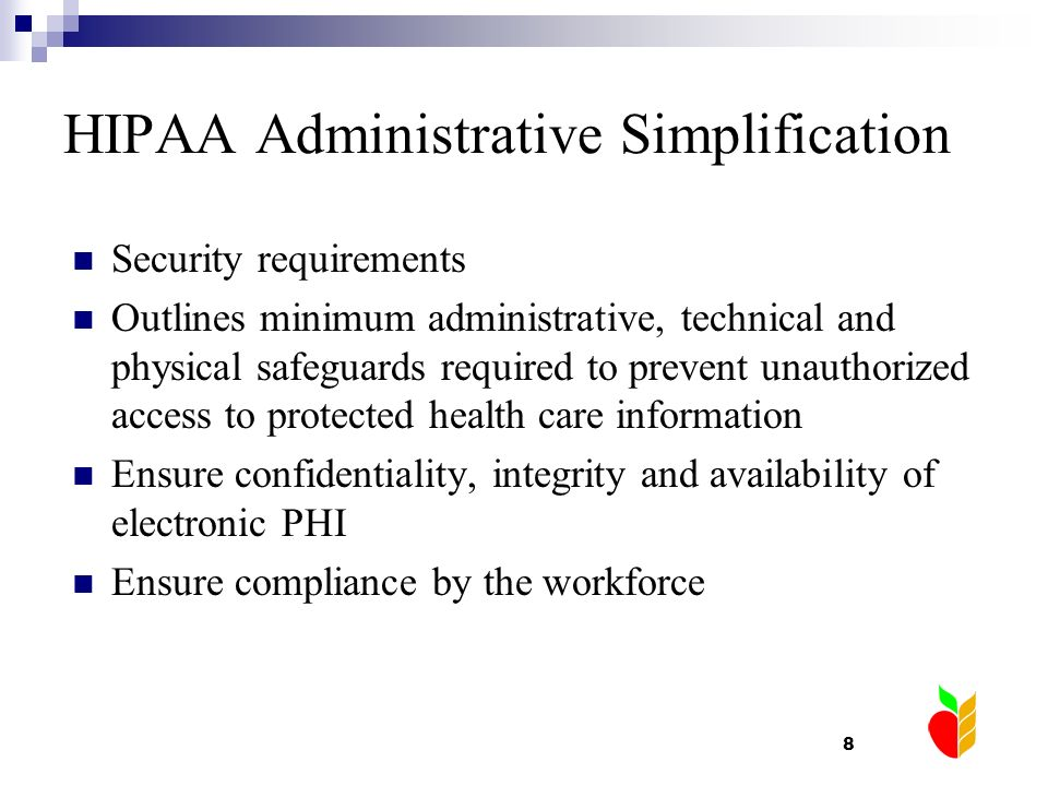 HIPAA Administrative Simplification