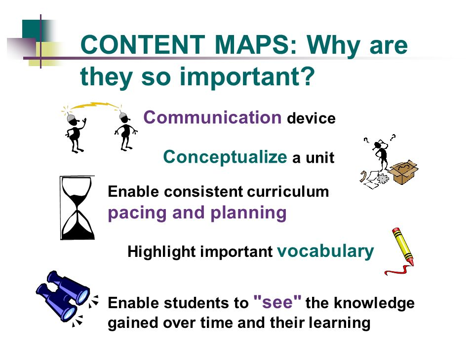 CONTENT MAPS: Why are they so important