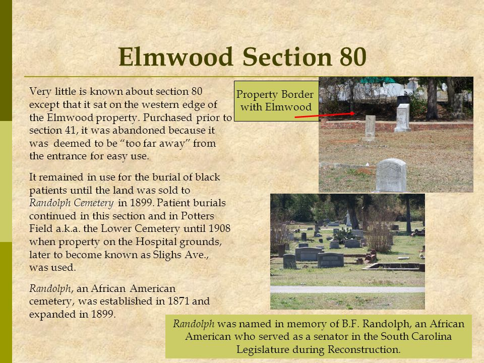Elmwood Section 80 Property Border
