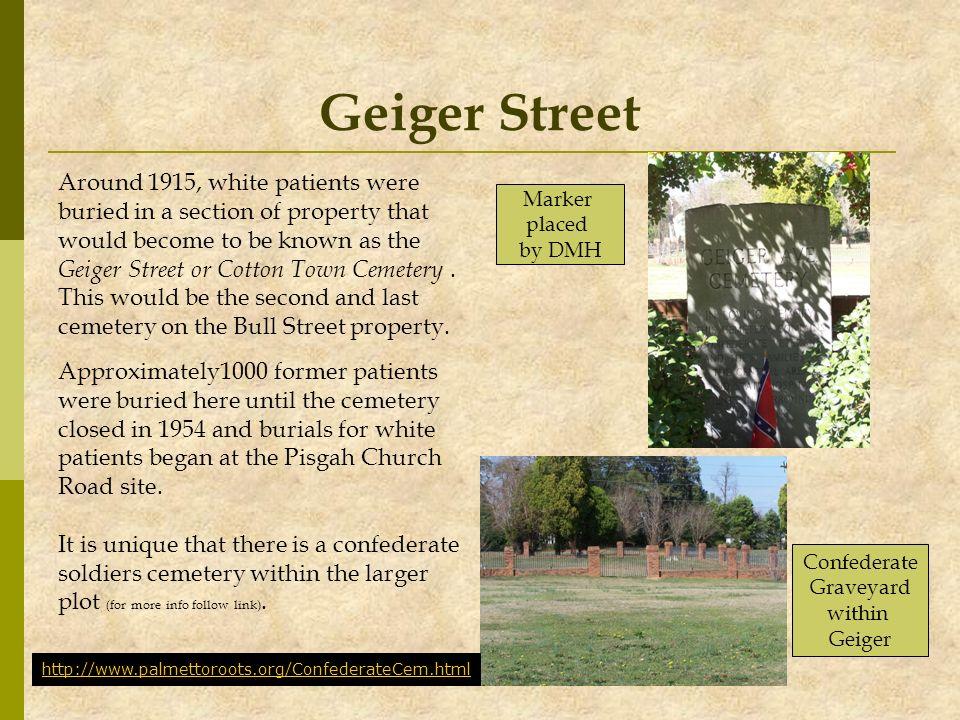 Geiger Street Around 1915, white patients were