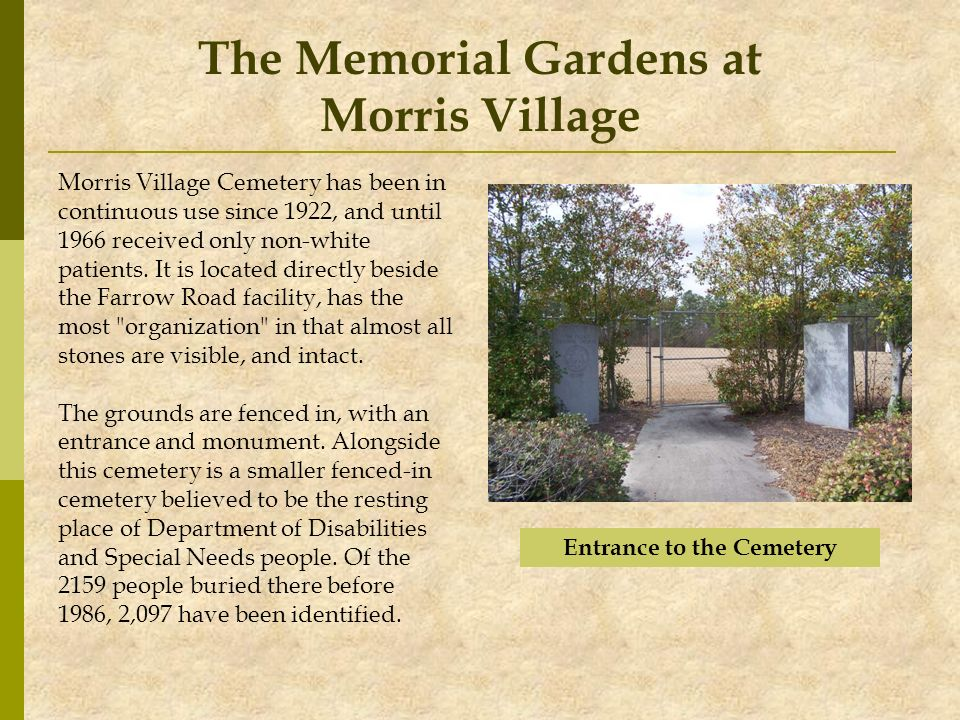 The Memorial Gardens at Morris Village