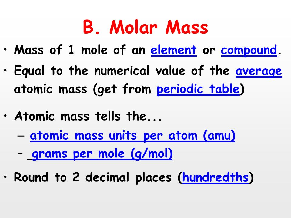 602 x 1023 unit 6 the mole mr blake ppt download b molar mass mass of 1 mole of an element or compound urtaz Gallery