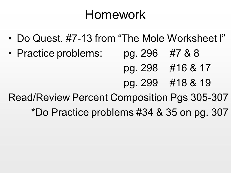 602 X 1023 Unit 6 The Mole Mr Blake ppt download – Mole Worksheet