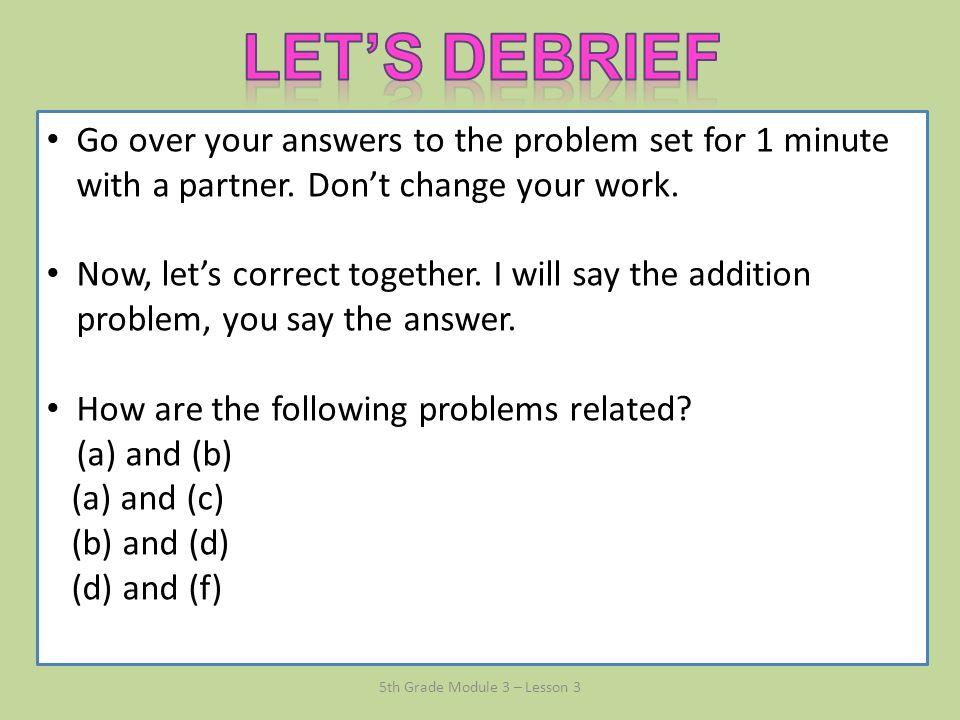 Module 3 lesson 3 grade 5