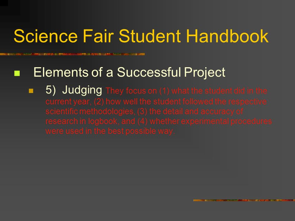 Science Fair Student Handbook
