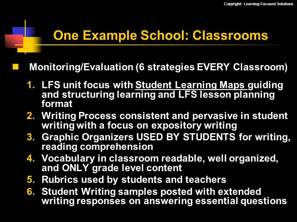 One Example School: Classrooms