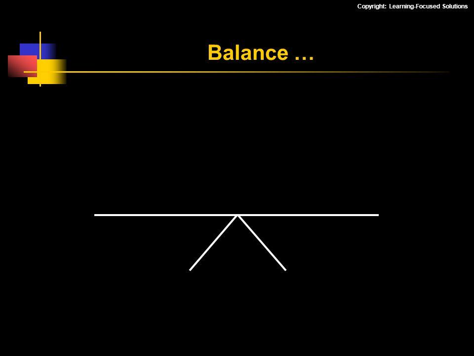 Balance …