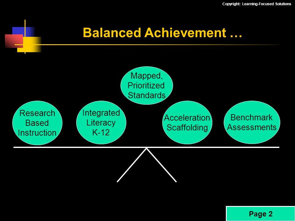 Balanced Achievement …