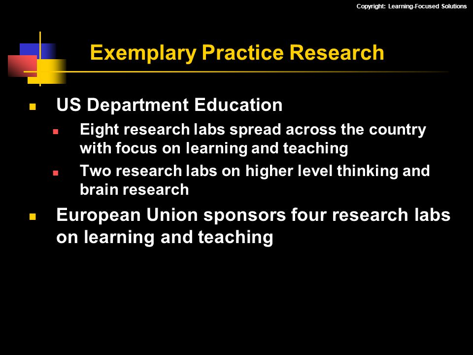 Exemplary Practice Research