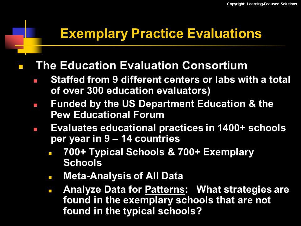 Exemplary Practice Evaluations