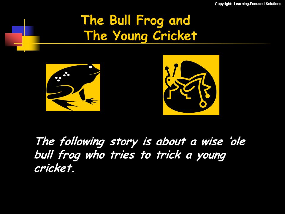 The Bull Frog and The Young Cricket