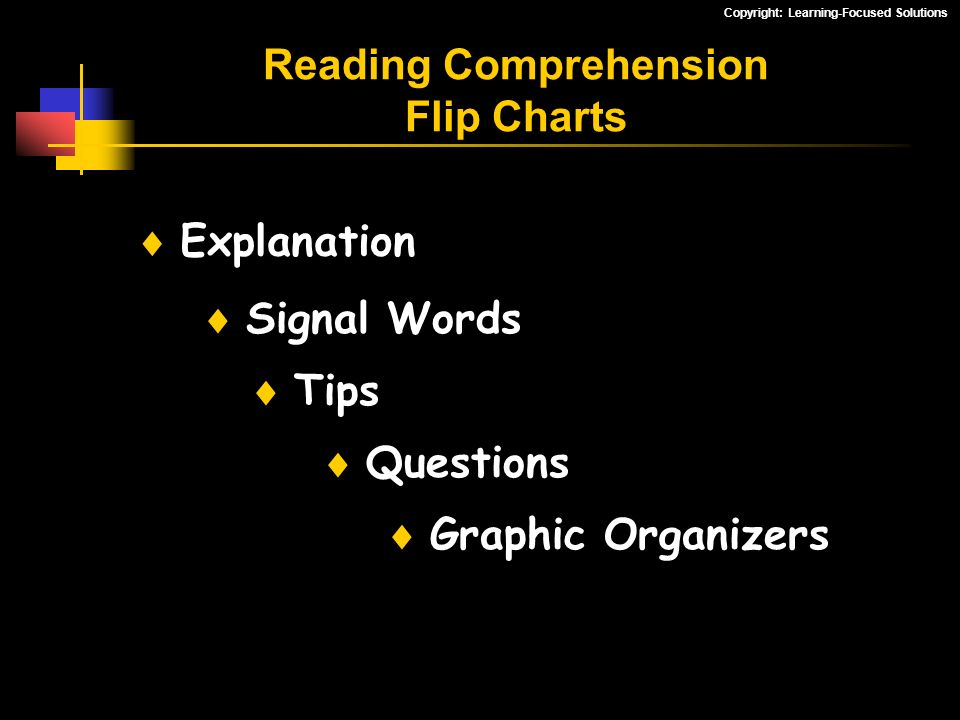 Reading Comprehension Flip Charts