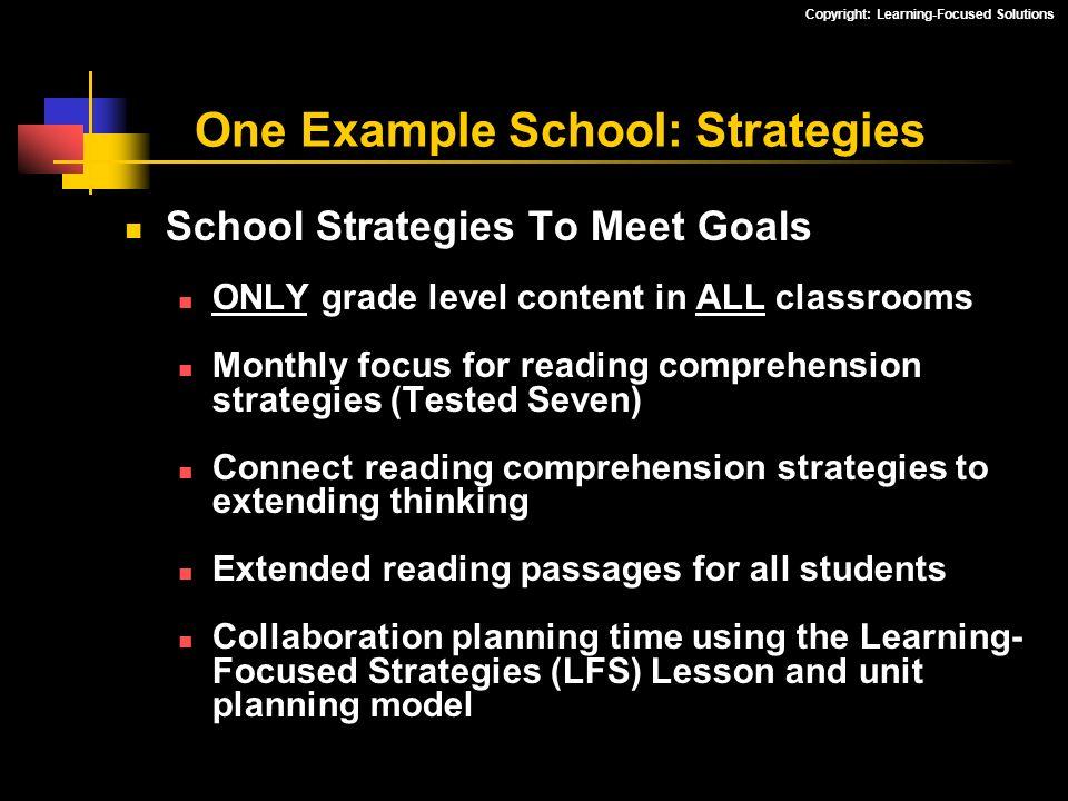One Example School: Strategies