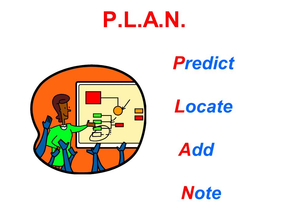 P.L.A.N. Predict Locate Add Note