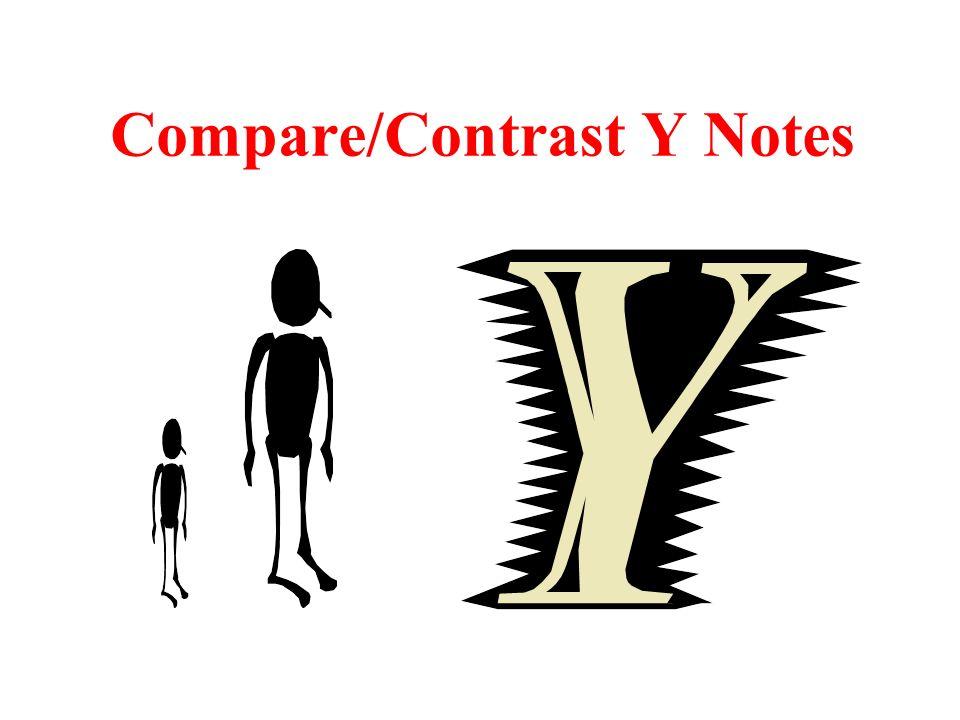 Compare/Contrast Y Notes