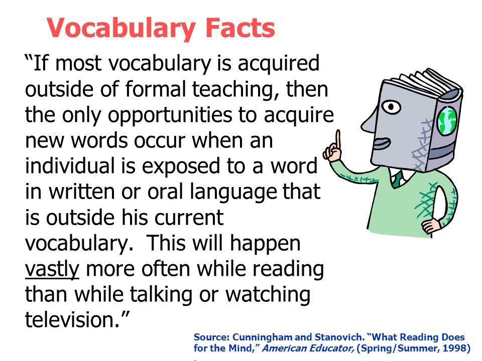 Vocabulary Facts